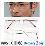 Molduras para óculos de titânio sem mangas 2016