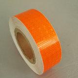 Bande r3fléchissante de PVC de nid d'abeilles adhésif orange de couleur pour la sûreté