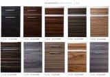 Woodgrain Portas de armário em madeira com alças (zhuv)