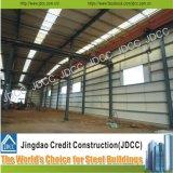 Taller barato de la estructura de acero de la pared de la chapa