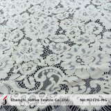 Tissu Wedding de lacet cranté par coton en ivoire (M2176-MG)