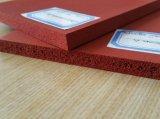 Folha da borracha de esponja do silicone, folha da borracha de espuma do silicone com pilha próxima ou pilha aberta