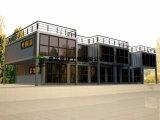 鉄骨構造の輸送箱によるプレハブのショッピングモール