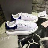 Chaussures courantes occasionnelles respirables de blanc de sport en cuir d'espadrilles de mode 35-44