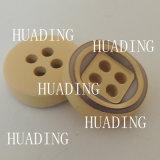 4 Furos Moda costura redondos botões de madeira para roupa (HD1146-15)