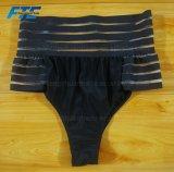 섹시한 높은 허리 흑백 줄무늬 숙녀 비키니 고정되는 수영복 Beachwear