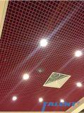 Plafond en métal de la calandre en aluminium Panneau de Plafond Plafond à cellules ouvertes de matériaux de construction