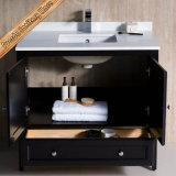 Governo di stanza da bagno di vanità dei bacini di legno solido del fornitore della mobilia singolo