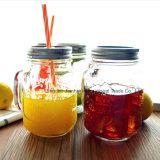 280ml rimuovono la tazza di vetro del muratore della bevanda ghiacciata per bere