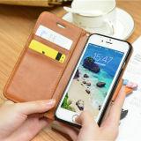 아름다운 리넨 PU iPhone 8을%s 가죽 이동 전화 상자