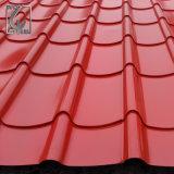 Folha de aço ondulada da telhadura da cor G550 de alta elasticidade em China