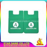 Tarjeta de Crédito de silicona Monedero, Titular de tarjeta inteligente con 3m sticky