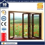 Doppia finestra di alluminio di vetro lustrata della stoffa per tendine di profilo 50