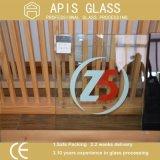 China OEM de fábrica 4mm a 5 mm 6 mm para trás decorativas pintadas de vidro temperado