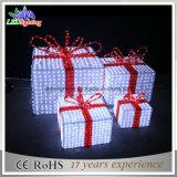 Indicatore luminoso della decorazione di motivo della via del contenitore di regalo di natale LED