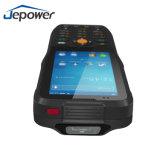 Supporto Android 1d dello scanner tenuto in mano di Jepower Ht380k o 2D codice a barre