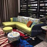 Design moderno sofá de canto de tecido para mobiliário doméstico