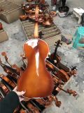 China Wholesale Solidwood Brillante violín con Boj Accesorios