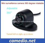 Mini HD CCD 360 Grau Carregador giratório da vista traseira do carro da Câmara de visualização do lado do espelho