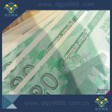 Papel de entradas de seguridad con Hot Stamping Foil