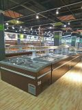 Supermarkt-kommerzielle Tiefkühlkost-Bildschirmanzeige-Insel-Gefriermaschine