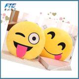 Descansos decorativos de Emoji do luxuoso confortável do poliéster no amarelo