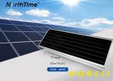 태양 에너지 지적인 시간 제어 태양 가로등이 LED에 의하여 점화한다