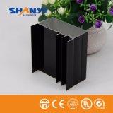 Electrophotetic enduisant le profil en aluminium noir pour le matériau de construction d'industrie de portes de Windows