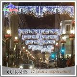 2017 à travers des lumières de décoration de vacances de motif de rue de Noël de DEL