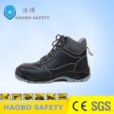 Calzature di sicurezza del cuoio genuino con la punta ed il piatto d'acciaio