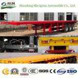 Nut 3 van Shengrun Assen 40 van Flatbed Voet Aanhangwagen van de Vrachtwagen die in China wordt gemaakt