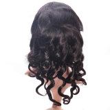 Le donne indiane umane del Virgin di Remy della natura dei capelli slacciano la parrucca della parte anteriore del merletto dell'onda