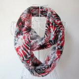 Frauen-Form-Blume gedruckter Chiffon- Unbegrenztheits-Sprung-Schal (YKY1100)