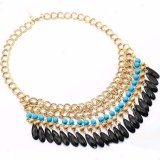 Gouden Halsband van de Kraag van de Keten van de Daling van het Water van de manier de Acryl