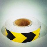 Alto tipo cinta reflexiva del cedazo de la visibilidad de la marca de la flecha adhesiva