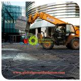 Черный штампованного HDPE бульдозер Контакт Защита пола коврики /HDPE пластиковые временных дорог