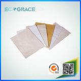 Saco de filtro resistente da poeira do poliéster da abrasão excelente para a planta do cimento