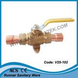 Clapet à bille de gaz en laiton (V25-102)