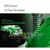 Tubo de plástico HDPE solo eje Shredder