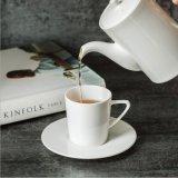 Crisol de cerámica puro del café del conjunto de té de la porcelana del crisol de flor de la taza del café con leche