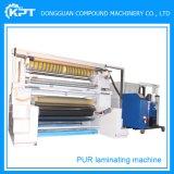 Purのファブリックのための熱い溶解の接着剤の自動薄板になる機械かフィルムまたはNon-Wovenまたは織物