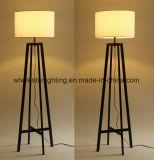 Lámpara de pie de metal moderno con tela Sombra (WHF-2219)