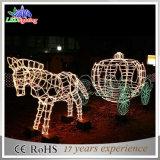 Luzes ao ar livre da decoração do diodo emissor de luz de Carraige do cavalo da abóbora do Natal
