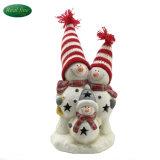De ceramische Beeldjes van de Sneeuwman van Kerstmis met LEIDEN Licht
