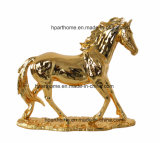 Ornamento de jardín de animales de resina de color plata delicada estatua de resina de camellos
