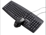 Teclado de escritorio atado con alambre de la buena calidad con el color negro (KB-970)