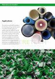 Sola desfibradora del eje del tubo plástico del HDPE