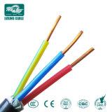 Volet 3 noyau solide de 4mm2 Gaine en PVC Rigide Twin de cuivre et de la masse du câble plat