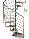 Escalera modificada para requisitos particulares/escaleras del acero inoxidable con la pisada de madera