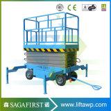 8m 4 Rad-elektrische hydraulische Scissor Aufzug-industrielle Aufzug-Tische